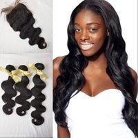 Cheap brazilian human virgin hair Best cheap silk base closure