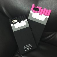 Wholesale Case Pink Iphone 4s Luxury - Luxury Smoking Kills Brand Cigaret Case for iPhone 6 4 4S 5S Silicone Cover Cigarette Box Case for iPhone 6 Plus