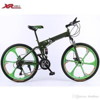 Wholesale 24 speed bicicleta inch mountain bike folding bicycle One wheel standard double disc bicycle adult bikes red unisex biycles