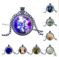 Wholesale 17 Stylies Doctor Who Necklace High Quality Unisex Doctor Who Round Statement Necklace Pendant Necklace Halloween Christmas Gift m614