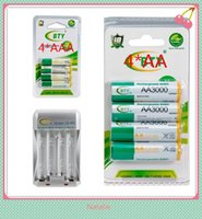 Wholesale 4PC BTY mAh AA Rechargeable Batteries PC mAh Rechargeable AAA Battery Charger