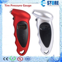 Wholesale Universal Design Car Tire Pressure Gauge Red White LCD Display Digital Tire Gauge for Cars A