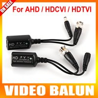 Wholesale New High Definition HD Transceiver Work For AHD HDTVI HDCVI Camera Max To m Video Balun Allows The Unshielded Twisted Pair UTP