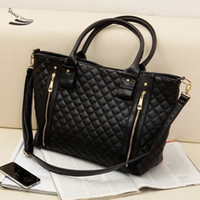 best office phones - Best Selling New Retro Office Lady PU Quilted Shoulder Tote Bag Hobo Handbag Black women messenger bags