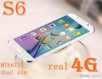 Wholesale New S6 REAL GB LTE Bit Quad Core MTK6735 S6 G9200 smartphone G GB GB GHz MP G cellphone DHL Free