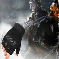 Wholesale 5pair Winter Outdoor Sports Fingerless Military Tactica Motorcycle Fitness Glove Cycling Ski Airsoft Bike Men Leather Half Finger Gloves