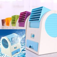 air water coolers - Hot Portable Hand held USB Mini Cool Fan with two outlet Air Conditioning home Appliances with fragrance ice slot Desktop electric fan
