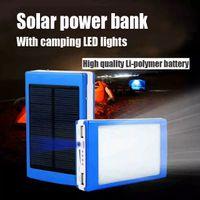 solar chinese lantern - 2015 hot sale mAh Cargador Portatil Solar Power LED camping lantern Bateria Pack Energy Bank Sun Battery Charger Powerbank