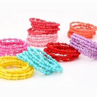 bamboo plant holder - Multi color Children Hair Rubber bands for girls Kids bamboo knots Elastic ponytail Holder hairwear Hair Accessories color hairbands Jewelry