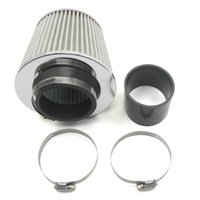 tube clamp - Universal Car Air Intake Tubes Aluminum Pipe Diameter Cold Air Injection Intake System Air Filter Kit Clamps Piping Fliter K2442