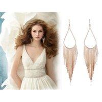 asian fancy dress - 2Pair New Trendy Temperament Women Long Tassels Earrings Stud Fancy Dress Anti Allergy
