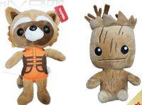 Cheap Latest Guardians Of The Galaxy Plush Doll Q Style Rocket Raccoon Groot Treant Protector Decoration Model Nice Children's Gift