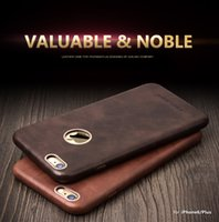 Wholesale 2015 QIALINO Calf Skin Genuine Leather Back Case for iPhone Protective Golden Frames for iphone6 plus