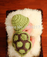 baby turtle costumes - Baby Costume Photo Photography Prop Knit Crochet Beanie Animal Hat Cap Green turtle Set