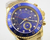 antique mens gold wrist watch - Best Brand New Blue Faces Ceramic Swiss Golden Stainless Steel Sapphire Luxury Mens Automatic Mechanical Watch Pointer Wrist watches For Men