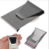 Wholesale Slim Thin Double Sided Metal Money Clip Cash Bills Credit Card ID Holder