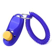 dog clicker - Pet Clicker ClickerWith Sharp Clicking Sound Metal Plate With Wrist Strap For All Pets Dogs Cats DHL Fedex