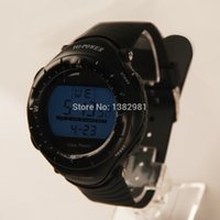 ao calendar - Black Round Dial Digital Waterproof Sports Solar Power Watch AO P