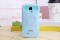 i-glow cases - i Glow iglow Hybrid Luminous Noctilucent Ring Stand holder Plastic Case Cover For iphone plus s s c Samsung grand i9082
