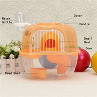 Wholesale Hot Transparent Plastic Hamster Gerbil Mouse House Level Decorative Cage Cute Gerbil Mouse Playhouse Nest Random Color
