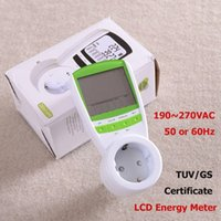 Wholesale EU Plug Electric Energy Saving Power Meter EU Meter Wireless Watt Consumption Monitor Analyzer