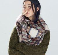 retail shawls - Retail Christmas Party Price Lady Blanket Oversized Tartan Scarf Wrap Shawl Plaid Cozy Checked Pashmina corlorful autumn winter scarves