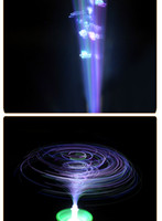 Wholesale New listing hot flash music light emitting optical fiber magical toy gyroscope supply night market stall