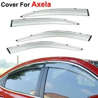 awning window styles - 4pcs Window Visors For Mazda Axela Sun Rain PC Rain Shield Stickers Covers Car Styling Awnings Shelters