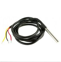 Wholesale Holiday sale Digital Temperature Temp Sensor Probe DS18B20 For Thermometer m Waterproof