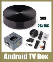 Cheap TV set top box digital reveiver Tronsmart Vega S89 Amlogic S802 Quad Core Android TV Box 2G 16G HDMI Bluetooth WiFi Smart TV Receiver OTH090