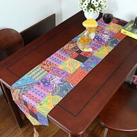 asia flags - cm MZBY01 Linen cotton India and Pakistan tropical rainforest southeast Asia table runner table flag