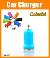 Wholesale Mini Portable Dual port USB Car Charger A Bullet plug cell phone car Chargers Universal Adapter for Samsung Galaxy S3 S4 iphone CAB017