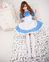 Wholesale COSPLAY Alice In Wonderland Super Meng Maid Installed Water Blue Maid Service COS Animation Clothing Performance Service J202