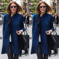 Cheap Clothing Ladies Imported Tops 2015 Autumn Newest Casual Women's Fashion Grey Long Sleeve Lapel Pockets Oversized Coat ZF15097