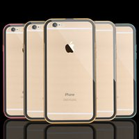 aluminum silicone free - 0 mm Ultra thin Metal Aluminum Clear Hard Back Case for Apple iPhone S inch Transparent Hybrid Cover Armor Free Ship MOQ