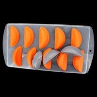 Wholesale 5pcs orange ice lattice mold chocolate molds double color mould ice ice boxqqme