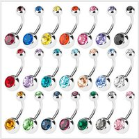belly ring hoop - 100pcs vertical Hoop Add Your Own Charm Belly Ring mixed color body jewelry Navel ring Belly Button Rings