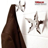 Wholesale 50pcs ninja star coat hooks Creative personality stainless steel material wall hooks order lt no track