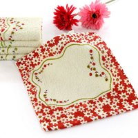 Wholesale Cotton Floral Printed Kitchen Hand Towel Super Absorbent Square Shape Useful Towels Home Supplies CM JQ0013