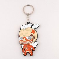 Wholesale HOT Cute Japanese Anime Attack On Titan Colossal Silicone Key Ring Chain Figure dandys