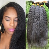 Cheap brazilian human hair weave Best kinky straight hair