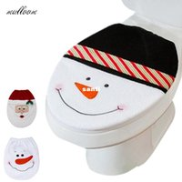 snowman decoration - Snowman Toilet Seat Cover and Rug Bathroom Set Christmas Decoration