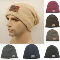 Precio de Cráneo del sombrero del esquí-Los hombres invierno largo holgado con forro de punto Beanie Manguito caliente grueso cráneo del casquillo del sombrero del esquí