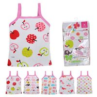 Wholesale New Arrivals Girl s Children s Kids Tank Tops Full Printing Vest Clothing Cotton Cute Patterns Summer Casual KA328 Free S