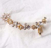 Wholesale 2015 Fashion Jewelry Brincos Ear Cuff Earcuff Personality Flower Ear Cuffs Clip on Earrings for Women factory sales