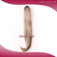 Wholesale Synthetic Hair Wigs Hair Extensions Inch Ponytails Women Long Human Hair Straight