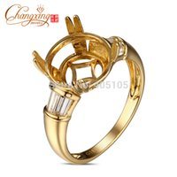 baguette semi mount - Baguette Diamond ct k Gold mm Round Cut Semi Mount Ring Setting
