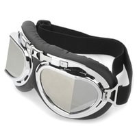 eye protection glasses - Black Cool Folding Motorcycle Riding And Ski Snowboard Eye Protection Glasses Goggle With Silver Lens And Adjustable Band