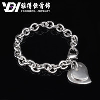 Wholesale factory trade selling classic Korean fashion exquisite jewelry factory direct sales Silver Double Heart Bracelet p