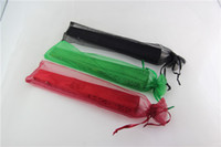 Wholesale color Silk pouch for hand fans organza gift bag gift pouch for hand fans with drawstring
